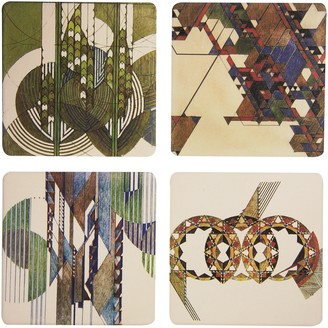 "CoasterStone Absorbent Coasters 4-1/4-Inch ""Frank Lloyd Wright Graphic Designs"" Set of 4"