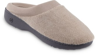 Isotoner Women's Microterry Hoodback Clog Slippers
