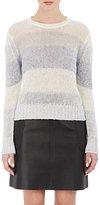 Barneys New York Women's Rib-Knit Crop Sweater-BLUE