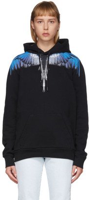 Marcelo Burlon County of Milan Black and Blue Wings Hoodie