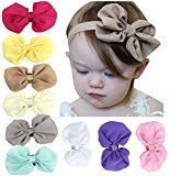 Baby Headbands and Bows Toddlers Hair Accessories by Qandsweet