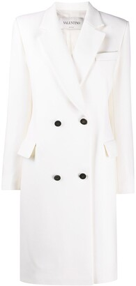 Valentino Double-Breasted Mid-Length Coat