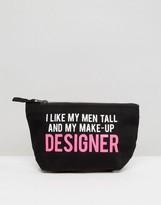 Crazy Haute 'Designer' Slogan Mini Make Up Bag