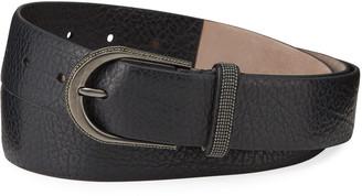 Brunello Cucinelli Monili-Beaded Leather Belt