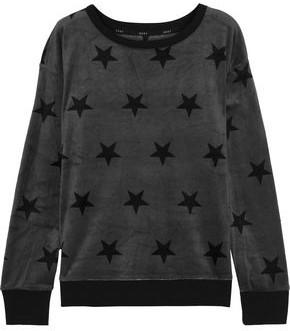 DKNY Printed Velour Pajama Top