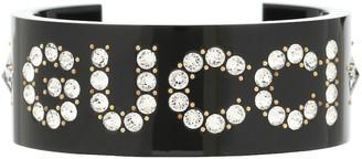 Gucci Logo crystal bracelet