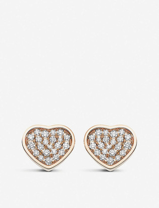 Chopard Happy Hearts 18ct rose-gold and diamond earrings