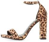 Charlotte Russe Leopard Two-Piece Dress Sandals