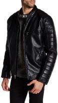 Andrew Marc Watkins Faux Leather Moto Jacket