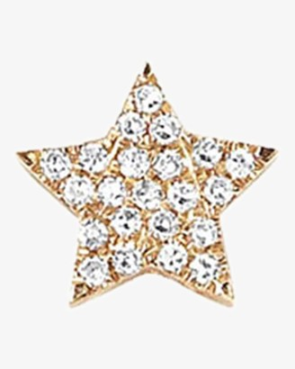 Ef Collection Single Diamond Star Stud Earring
