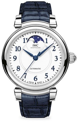 IWC Da Vinci Stainless Steel & Alligtor Strap Moon Phase Watch