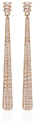 Dana Rebecca Designs 14kt rose gold and pearl Ivy diamond bar earrings