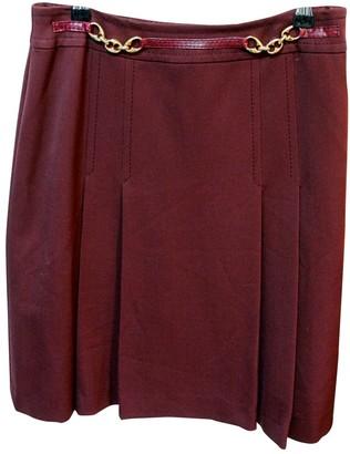 Celine Burgundy Skirt for Women Vintage