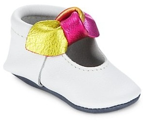 Freshly Picked Baby Girl's Prism Knotted Bow Mini Sole Moccasins