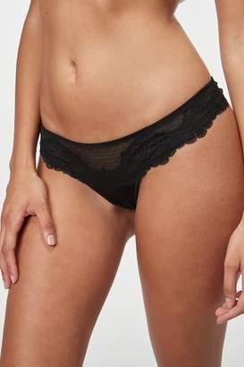 Next Womens Black Lace Knickers - Black