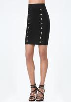 Bebe Kota Grommet Bandage Skirt
