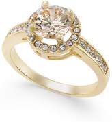 Charter Club Gold-Tone Pavé Halo Ring, Only at Macy's