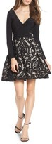 Xscape Evenings Women's Embroidered Jersey Party Dress
