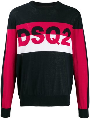 DSQUARED2 Panelled Logo Jumper