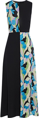 Diane von Furstenberg Verona Paneled Printed Silk-blend Crepe De Chine Midi Dress