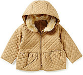 Starting Out Baby Girls 3-24 Months Hooded Quilted Coat