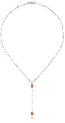 Gigi Clozeau 18kt rose gold Classic Gigi Madone white beaded rosary necklace