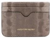 Alexander McQueen Women's Genuine Snakeskin Card Case - White