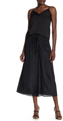 Theory Drawstring Printed Culotte Silk Pants
