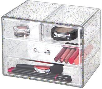 Richard's Homewares Richards Homewares Clear Confetti Glitter Organizer