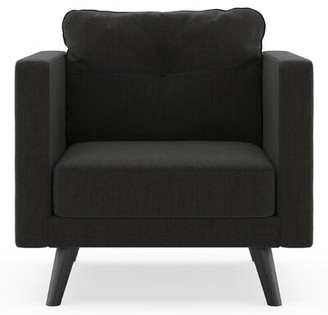 Corrigan Studio Crothers Armchair Fabric: Espresso, Leg Color: Black