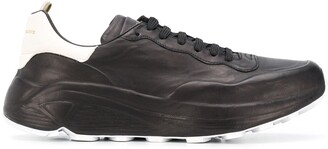 Officine Creative Sphyke colour block lace-up sneakers