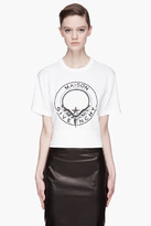 Givenchy White Maison Shield print T-Shirt