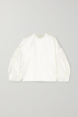 Nackiyé Nackiye - Nightingale Cotton-blend Duchesse-satin Blouse - White