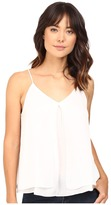 Heather Silk Double Layer Pleat Front Cami