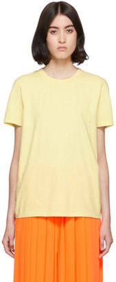 MM6 MAISON MARGIELA Yellow Embroidered Logo T-Shirt