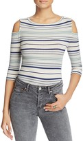 Free People Rory Cold-Shoulder Striped Top