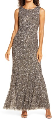 Pisarro Nights Beaded A-Line Gown