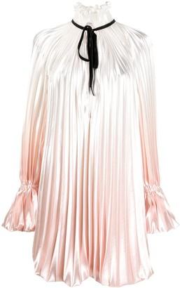 Philosophy di Lorenzo Serafini Ombre High-Neck Pleated Dress
