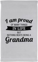 Designsify Grandma Kitchen Towel, I Am Proud of Many Things In Life, But Nothing Beats Being a Grandma - Kitchen Towel, Microfiber Velour Towel, Unique Gift Idea for Birthday, Nana, Mimi, Gigi