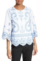Tory Burch Women's Mariana Broderie Anglaise Top