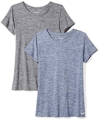 Amazon Essentials 2-Pack Tech Stretch Short-Sleeve Crew T-Shirt Black, XL