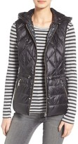 Bernardo Petite Women's Reversible Hooded Down & Primaloft Fill Vest
