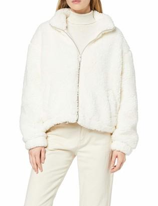 New Look Women's Op Aw19 Cleo Funnel Neck Borg Jacket
