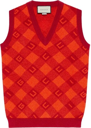 Gucci Jacquard Knitted Vest