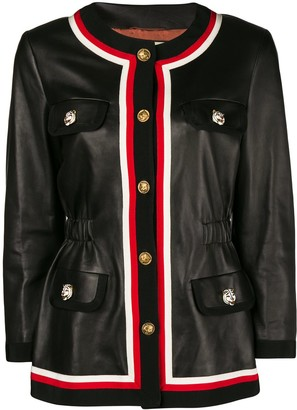 Gucci Ribbon Trim Jacket