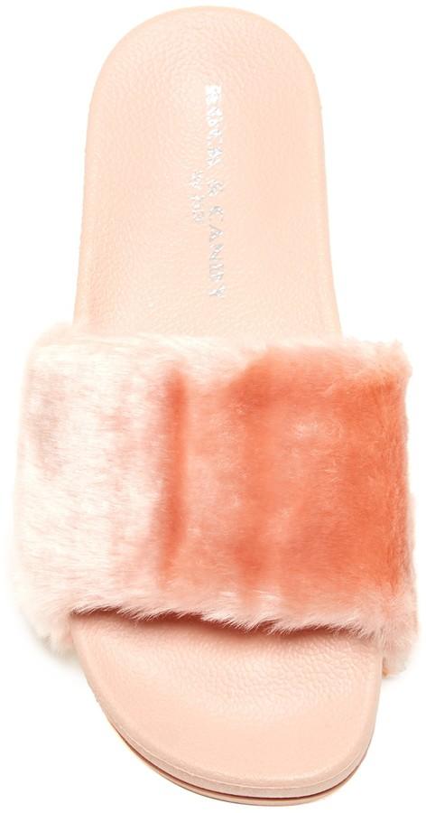 Rock & Candy Faux Fur Platform Slide Sandal
