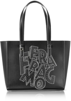 Salvatore Ferragamo Bonnie Black Leather Tote