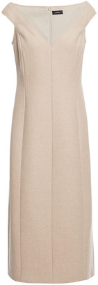 Theory Brushed Wool-twill Midi Dress
