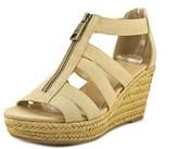 Lauren Ralph Lauren Kelcie Open Toe Canvas Wedge Heel.