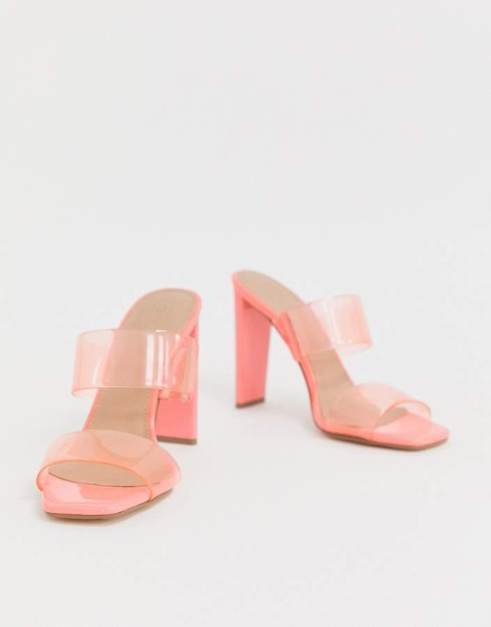 5aa42c39056 Asos Design ASOS DESIGN Hayward heeled mule in pink